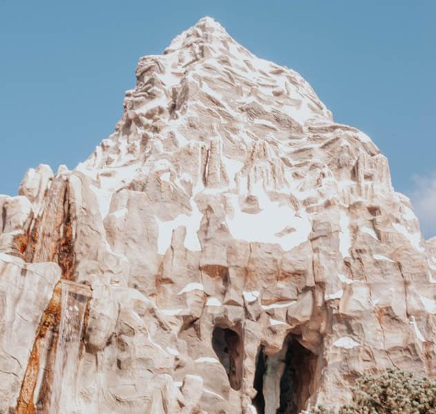 Disneyland Matterhorn Pink with Blue Sky