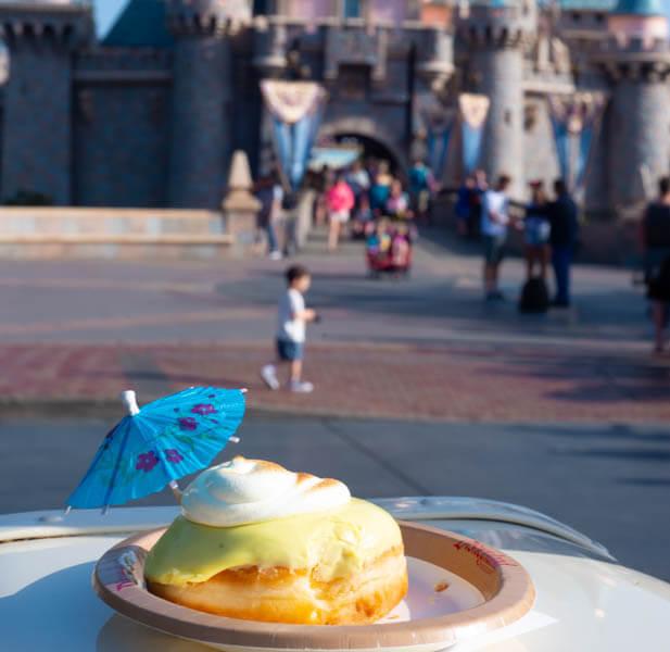 Dole Whip Doughnut Disneyland Cappuccino Coffee Cart Near Sleeping Beauty Castle