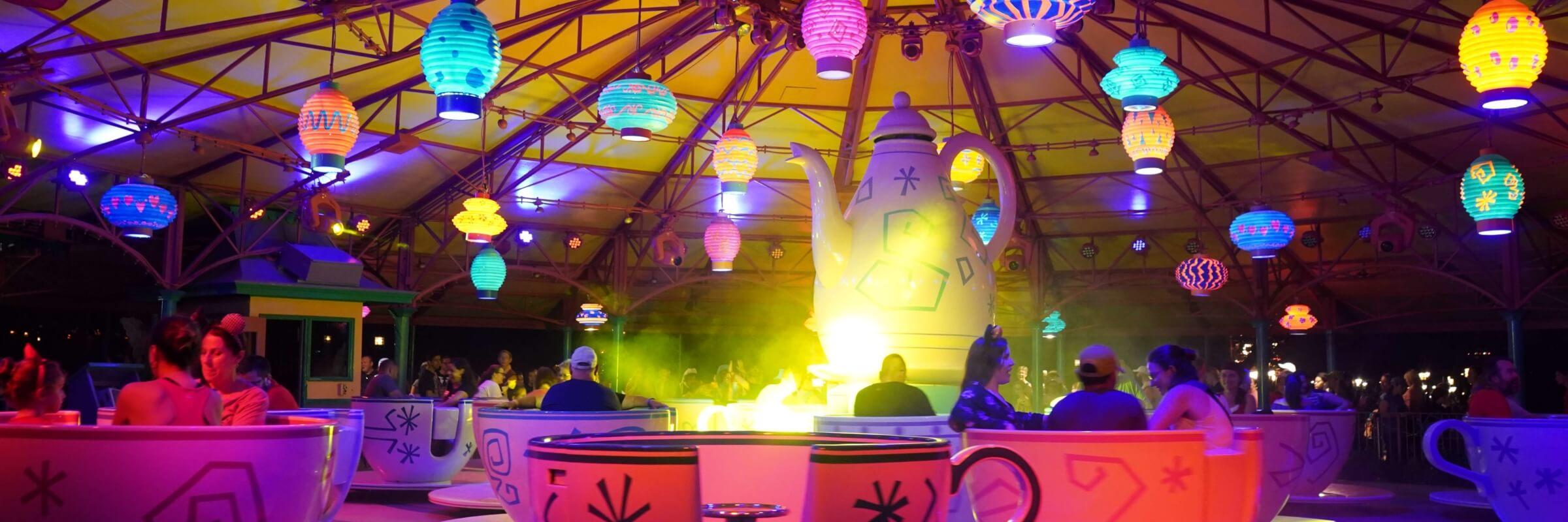 Mad Tea Party Teacups at Halloween in Magic Kingdom