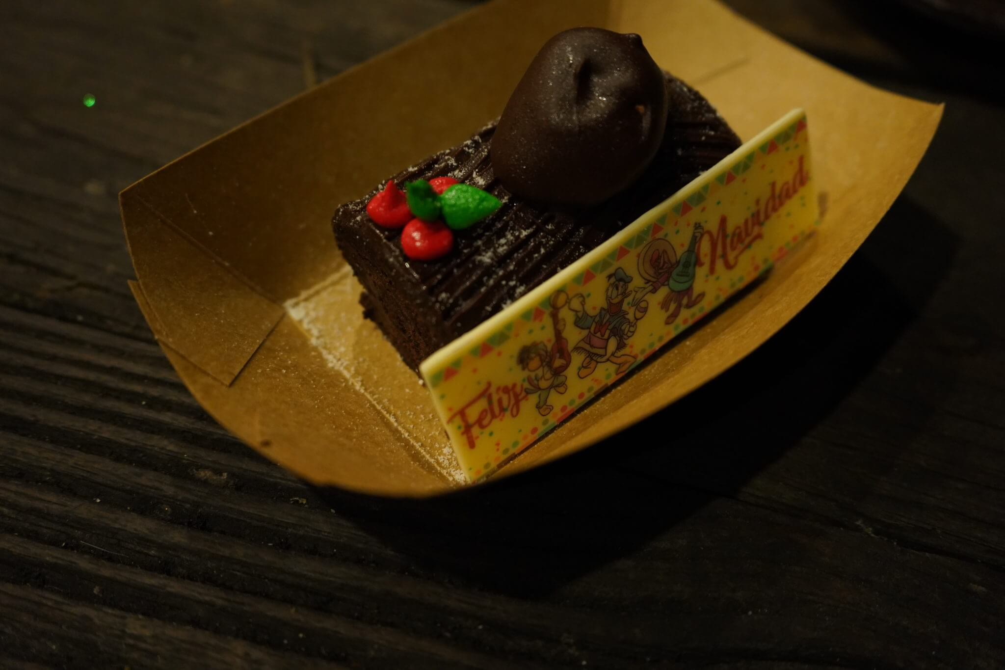 Pecos Bill - Three Caballeros Spiced Chocolate Yule Log at Mickey's Very Merry Christmas Party in Disney World