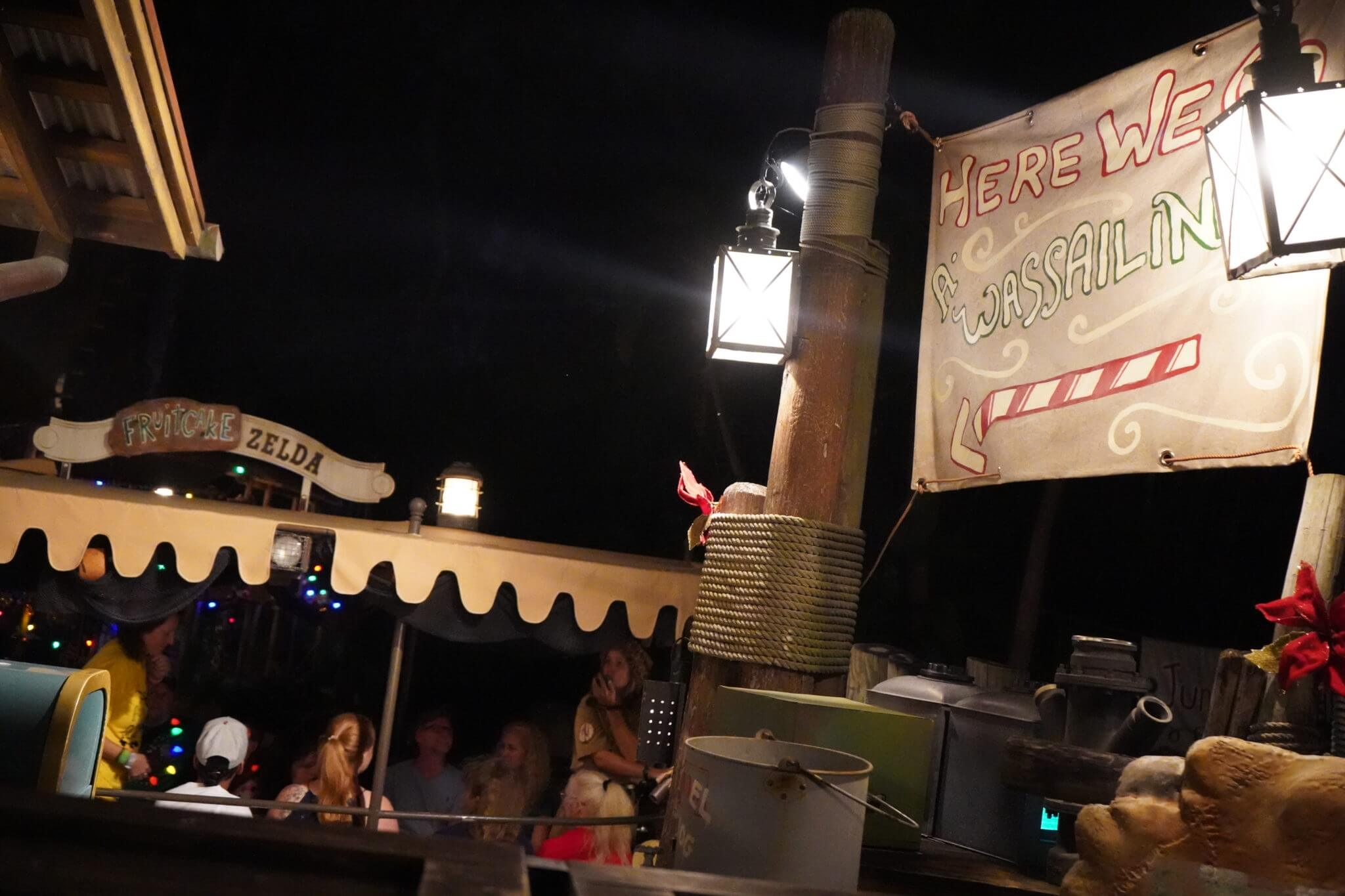 Jingle Cruise at night for Mickey's Very Merry Christmas Party in Disney world