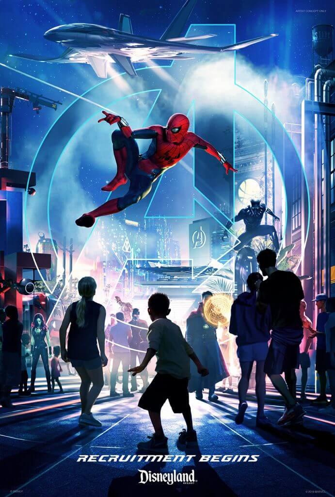 Avengers Marvel Land Disneyland Poster