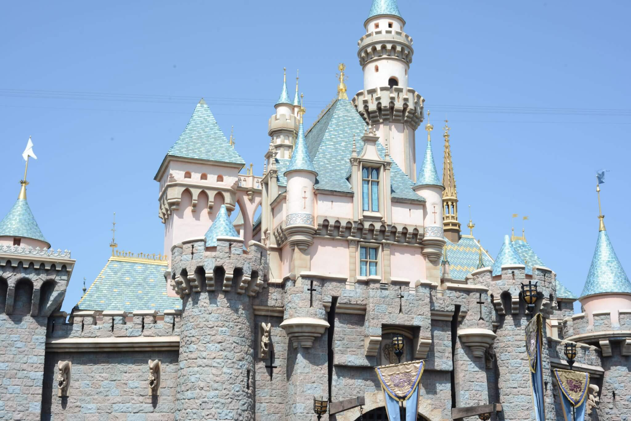 Sleeping Beauty Castle 2019 during the day