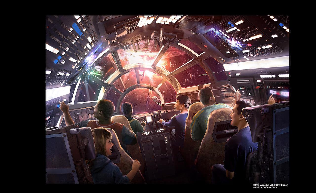 Millennium Falcon Attraction Disneyland