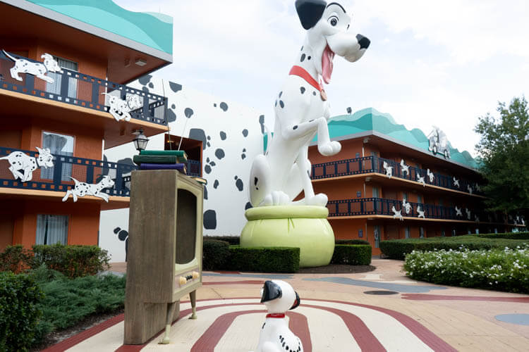 Disney World's All Star Movies Resort 101 Dalmatians Building