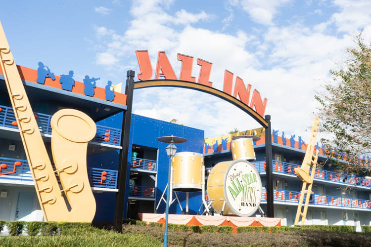 Disney World's All Star Music Resort Jazz Inn Building