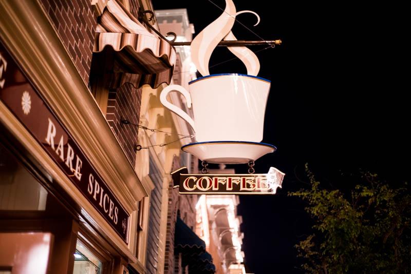 Coffee Sign Market House Starbucks Disneyland