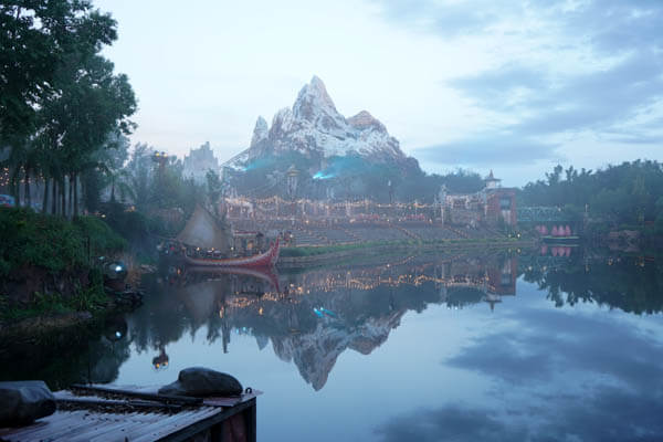 Mount Everest at Animal Kingdom in Disney World with fog clear photo