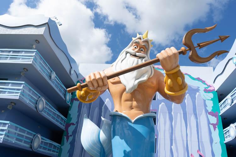 Disney World's Art of Animation Value Resort King Triton Little Mermaid Statue