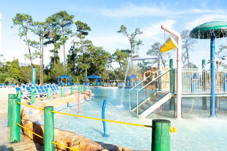 Disney World's Wyndham Garden Lake Buena Vista Disney Springs Resort Pool and Water Fountain Features