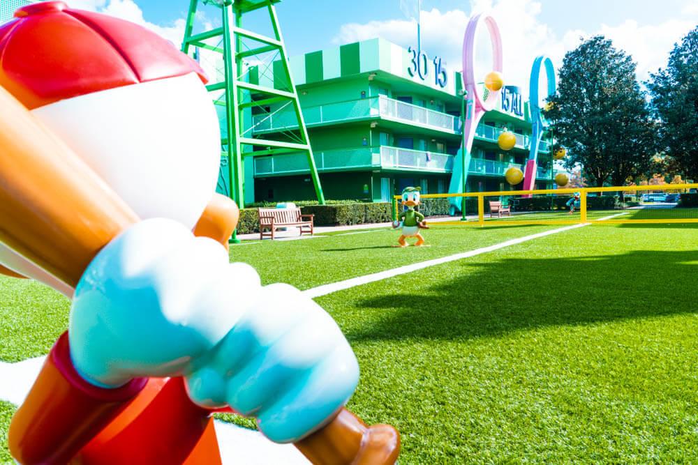 Disney World's All-Star Sports Resort Football Field Huey Dewey Louie