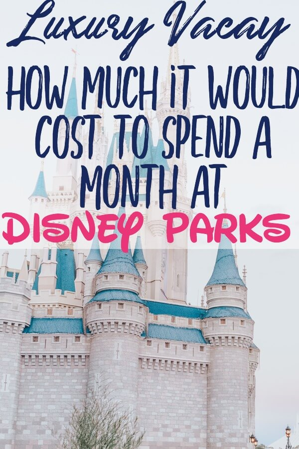 How much it would cost to spend a month at Disney World and Disneyland