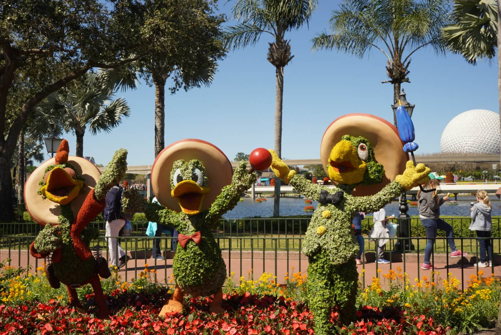 The Three Caballeros Topiaries at Epcot Flower and Garden Festival 2019