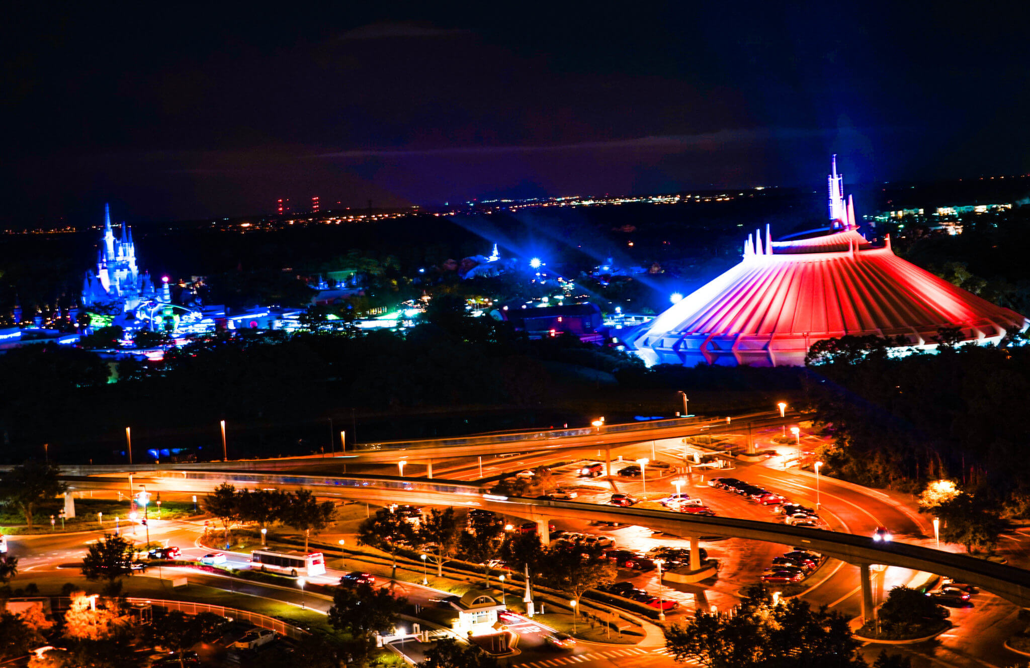 Observation Deck View from California Grill in Magic Kingdom at Disney World