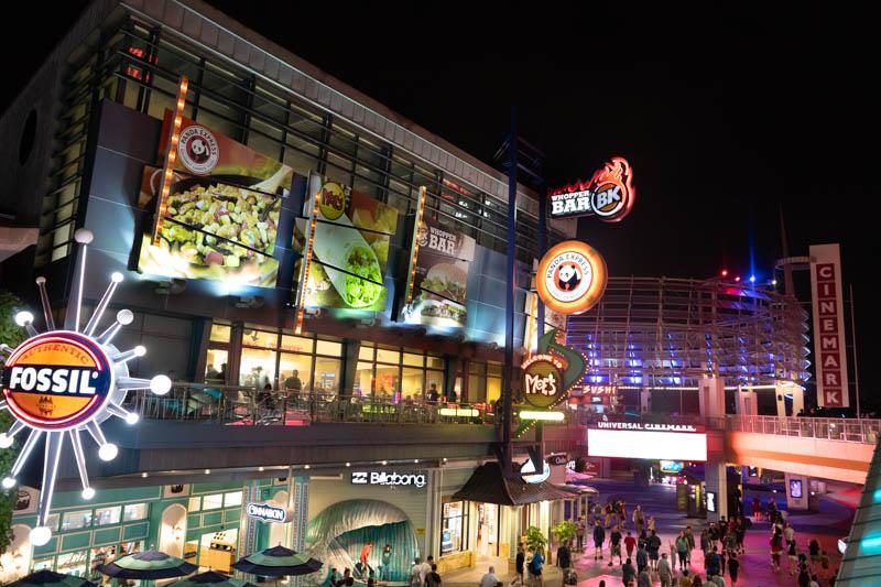 Universal Studios Orlando CityWalk Neon Signs at night