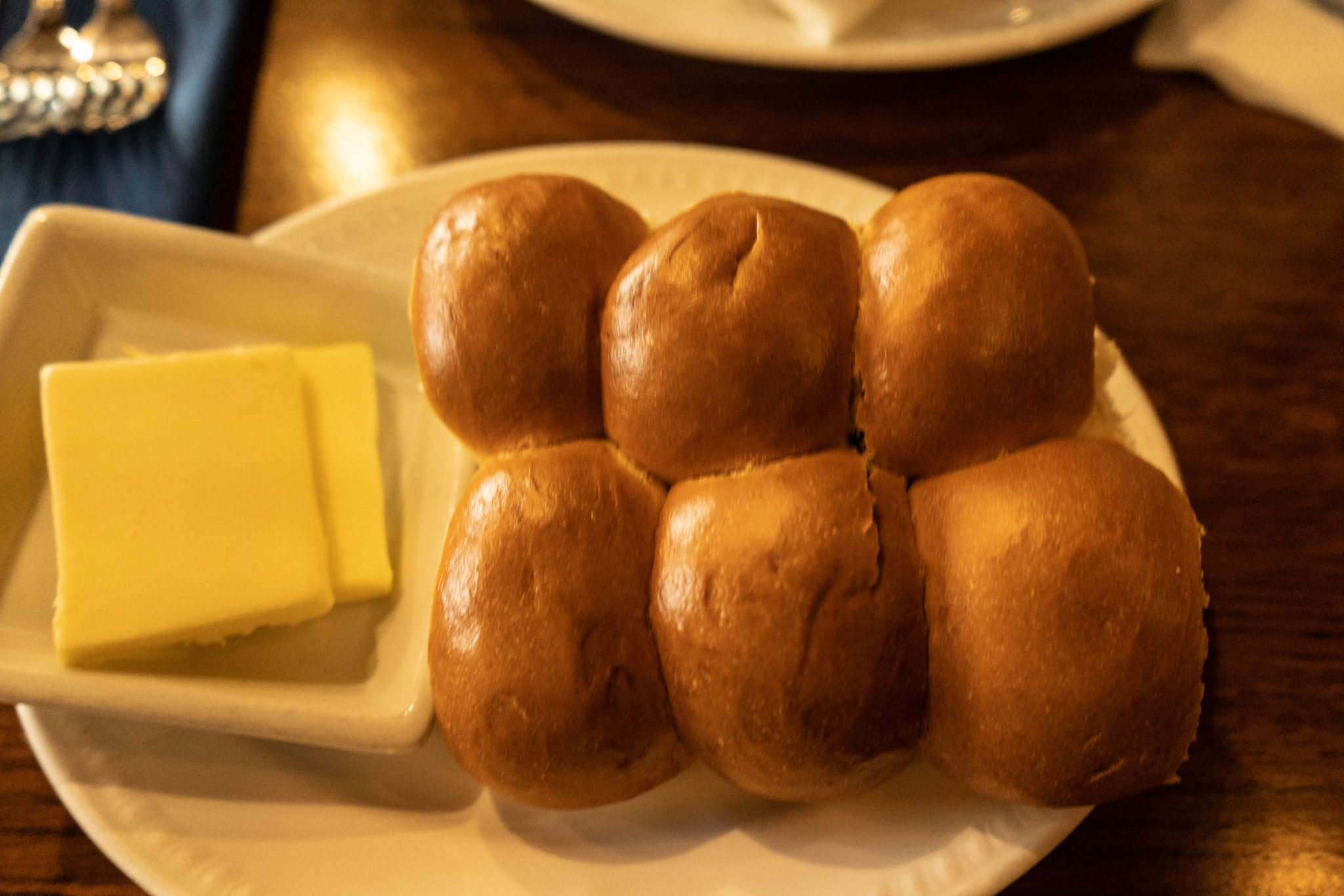 Dinner Bread Rolls and Butter from Liberty Tree Tavern in Disney World