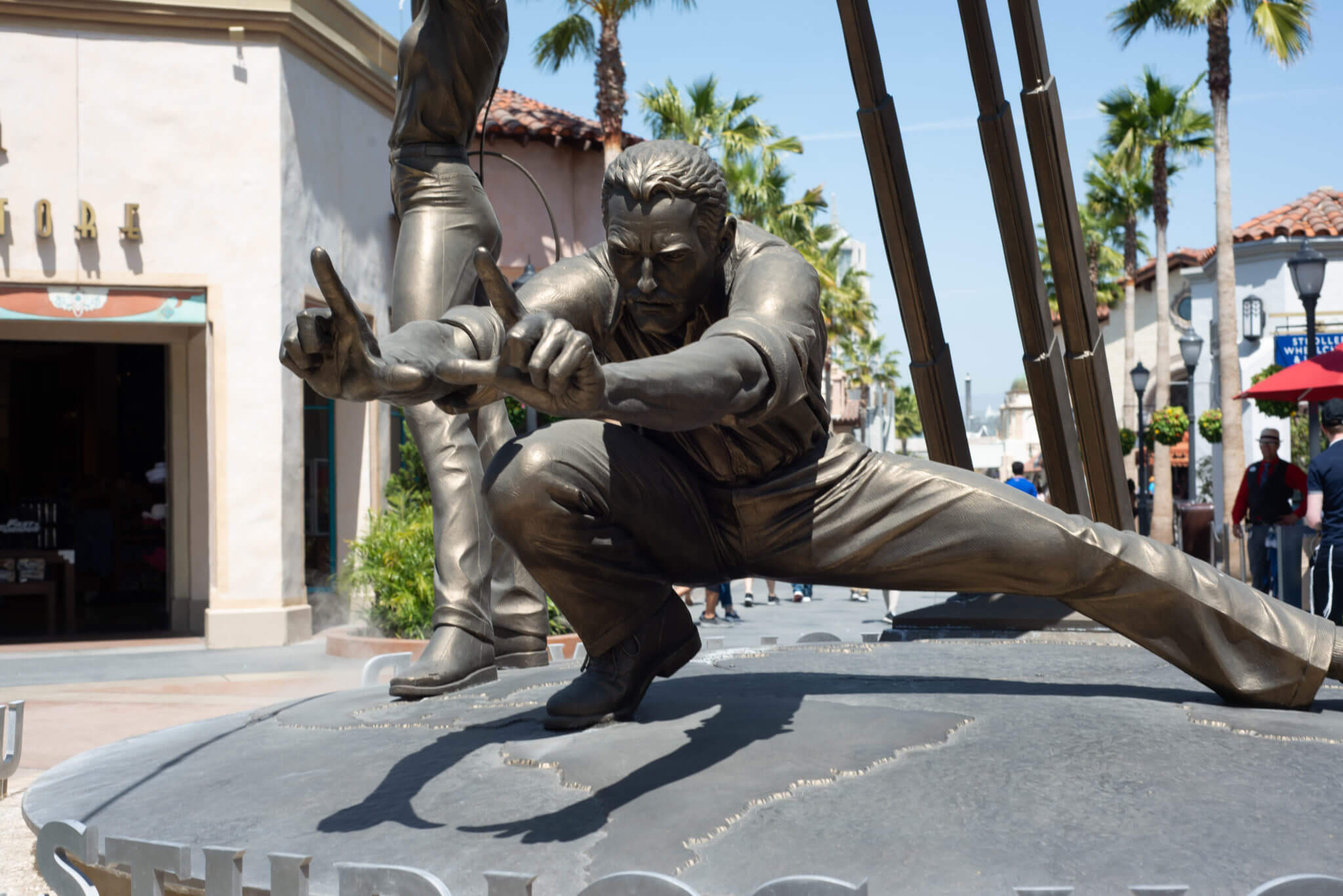 Director statue at front entrance of Universal Studios Hollywood
