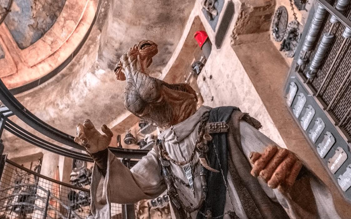 Dok Ondar Animatronic from Den of Antiquities: Star Wars Galaxy's Edge