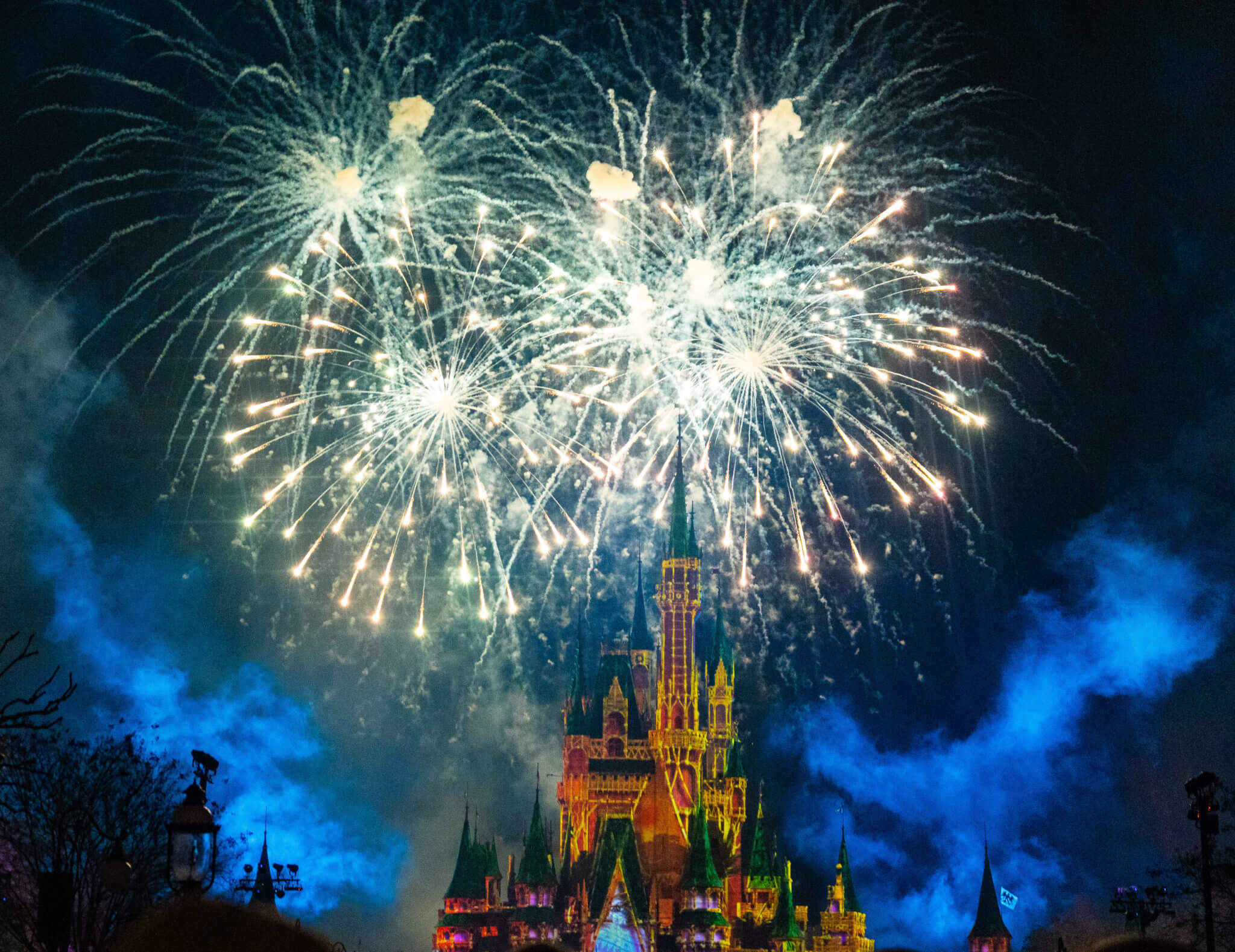 Happily Ever After Fireworks View from Main Street at Disney world in Magic Kingdom