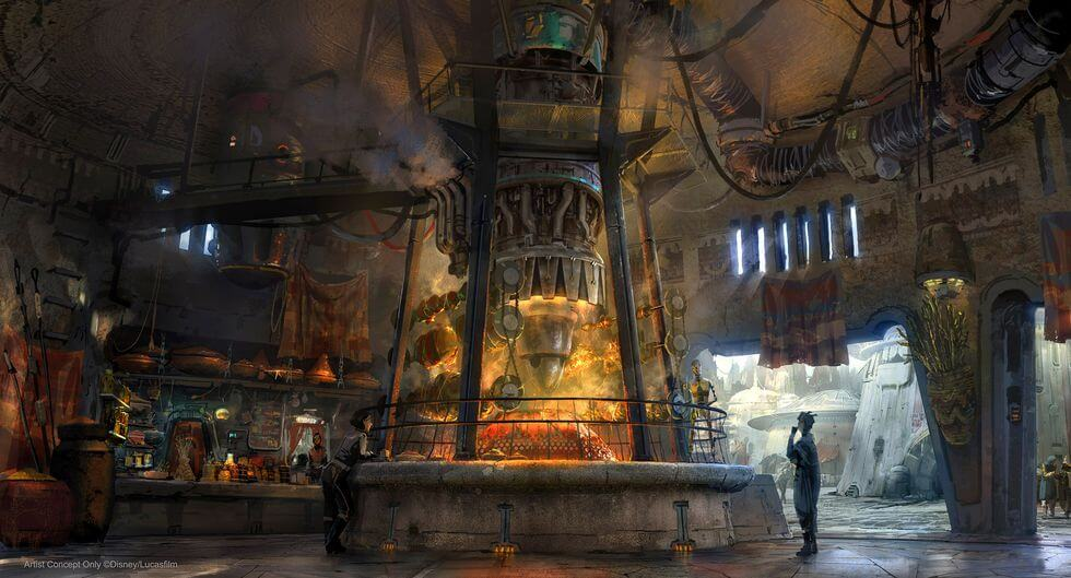 Ronto's Roaster Concept Art at Star Wars: Galaxy's Edge