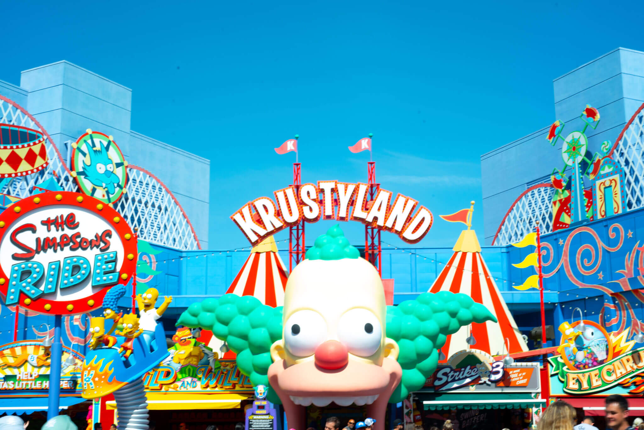 The Simpsons Ride in Krustyland at Universal Studios Hollywood
