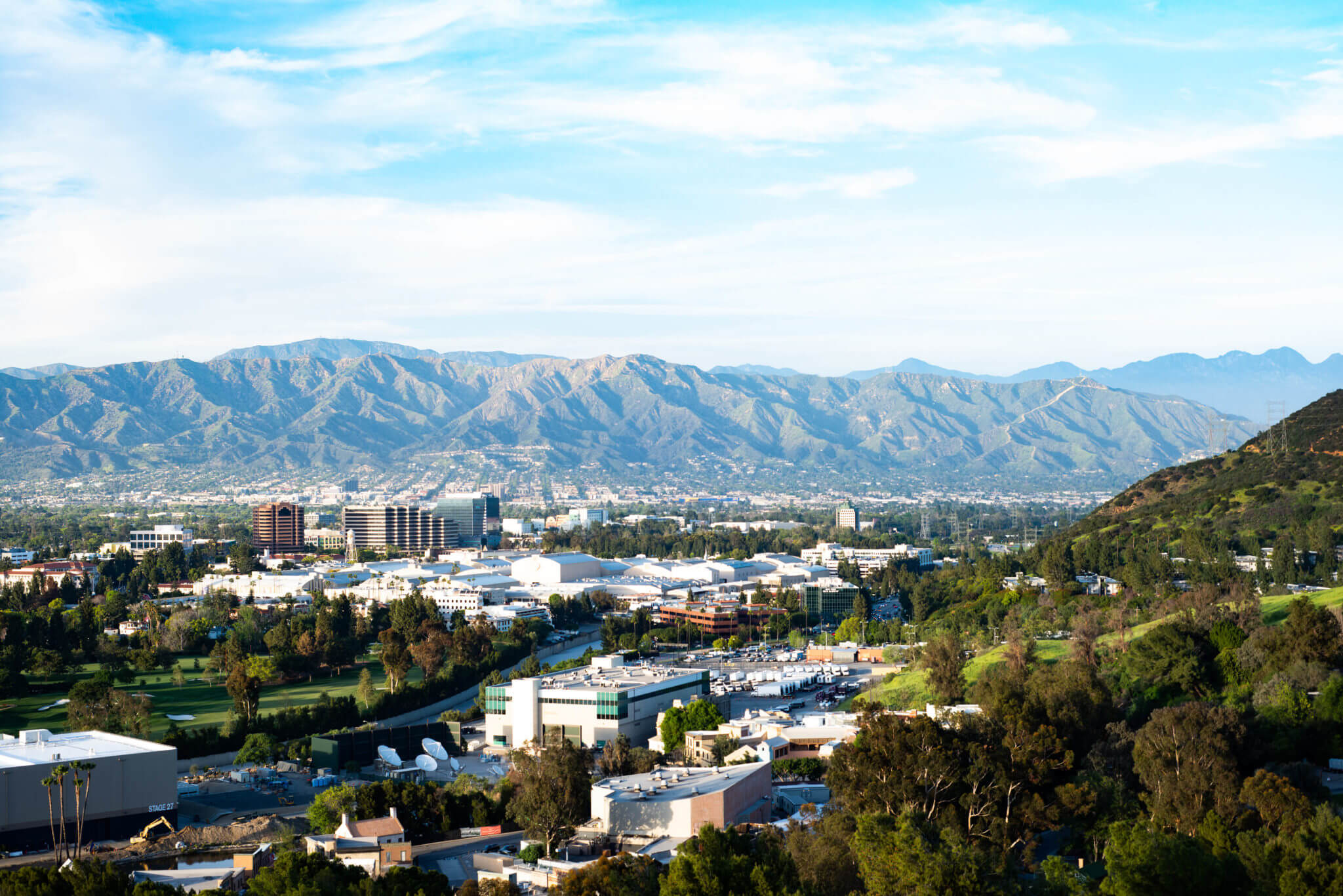 Rolling Hollywood Hills at Universal Studios in Los Angeles, California