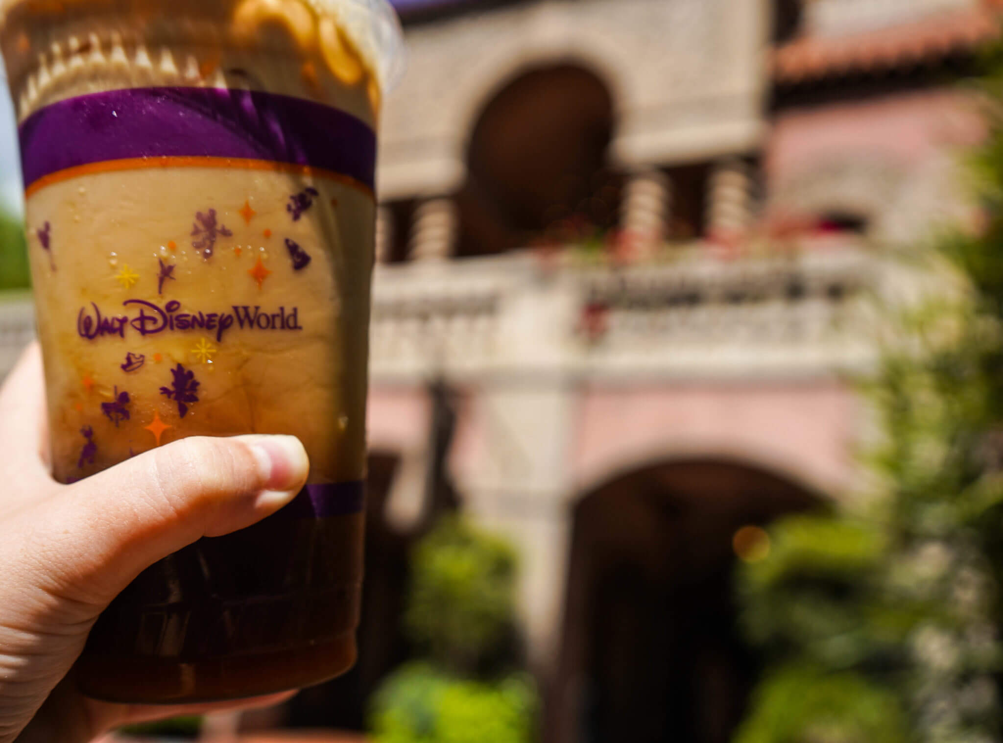 Iced Pumpkin Spice Latte from Joffrey's Coffee at Hollywood Studios in Disney World