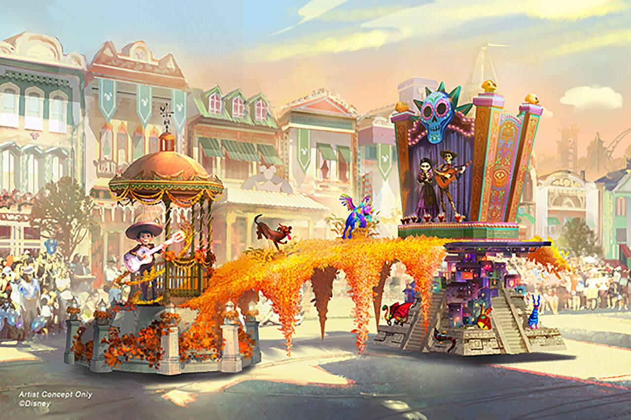 Magic Happens Parade Concept Art