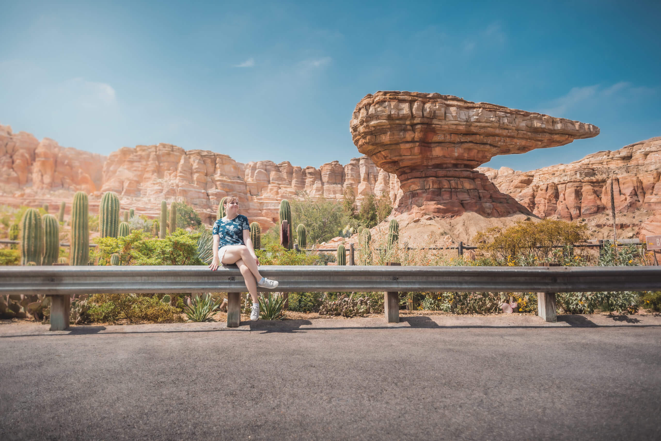 Radiator Springs Racers in Cars Land at California Adventure on a sunny day