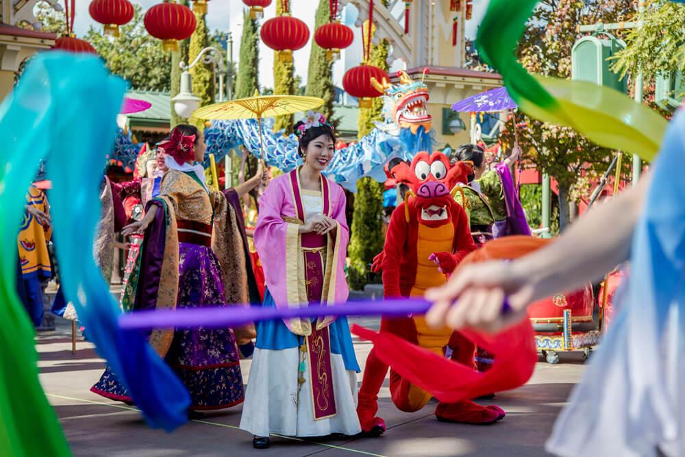 Mulan's Lunar New Year Procession Parade California Adventure
