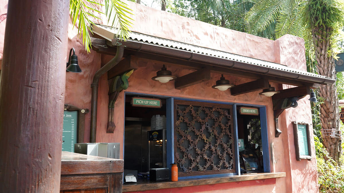 Isle of Java Coffee Place at the entrance of Discovery Island at Animal Kingdom