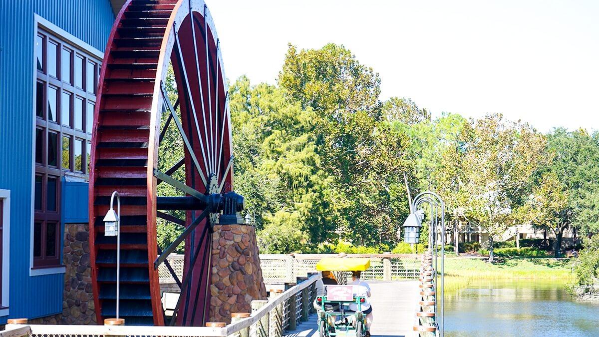 Disney Port Orleans water wheel