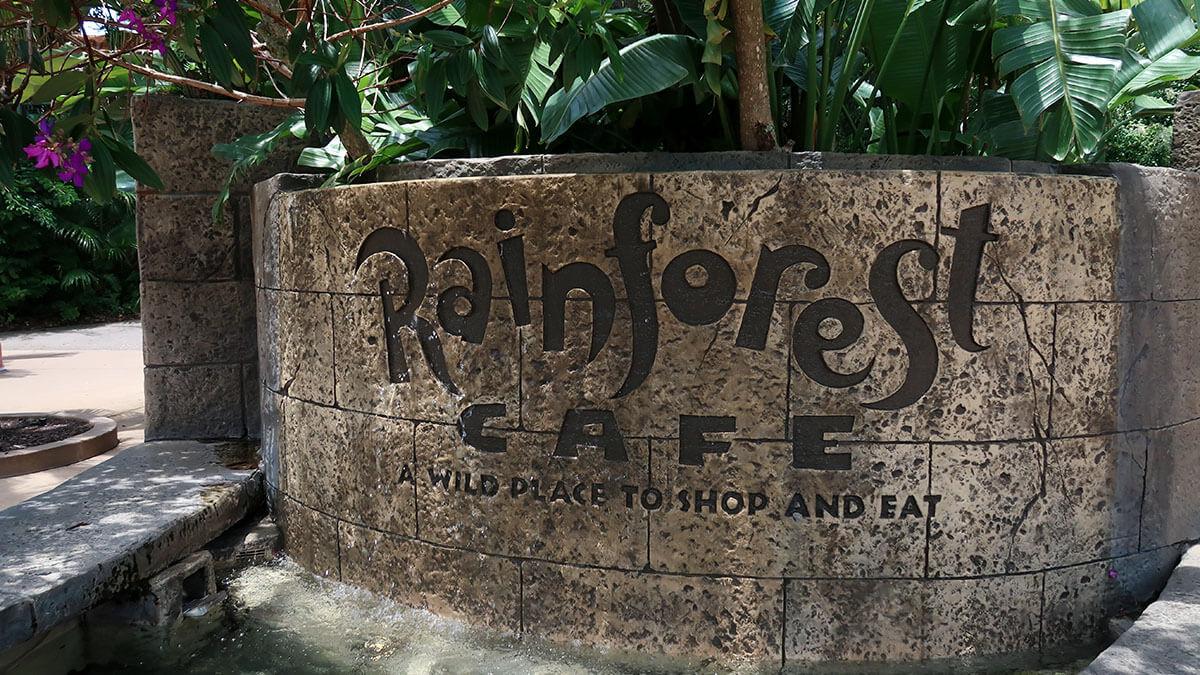 Rainforest Cafe entrance at Disney's Animal Kingdom