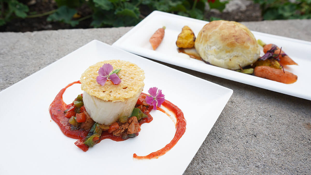 Scallop and Beef Wellington from Epcot's Flower and Garden Festival