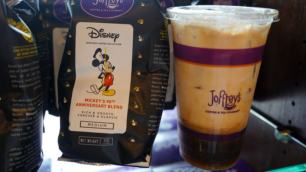 Joffrey's Iced Coffee Cold Brew and Mickey's 90th Blend
