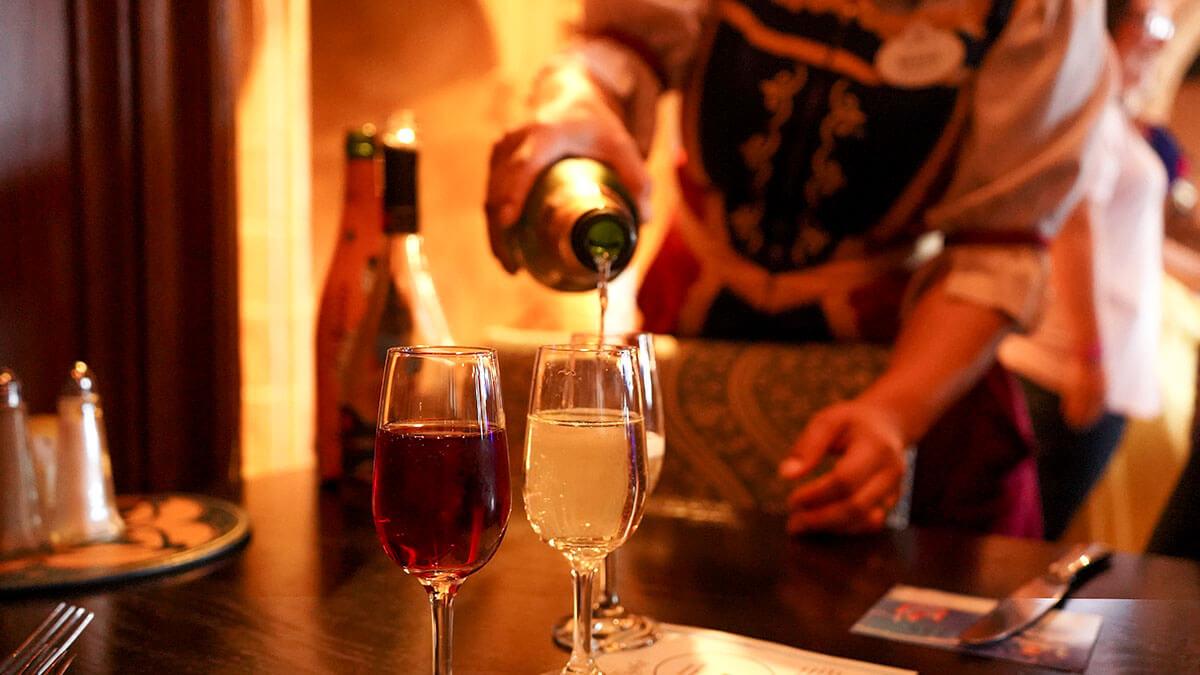 Royal Sparkling Wine Flight - Cinderella's Royal Table at Magic Kingdom