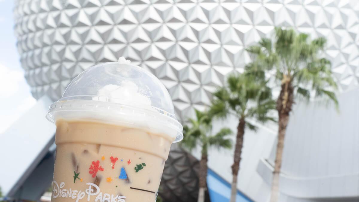 Iced Latte Starbucks at Epcot in Disney World