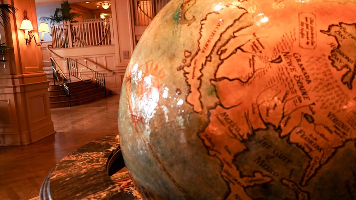 Disney's Yacht Club Lobby Globe